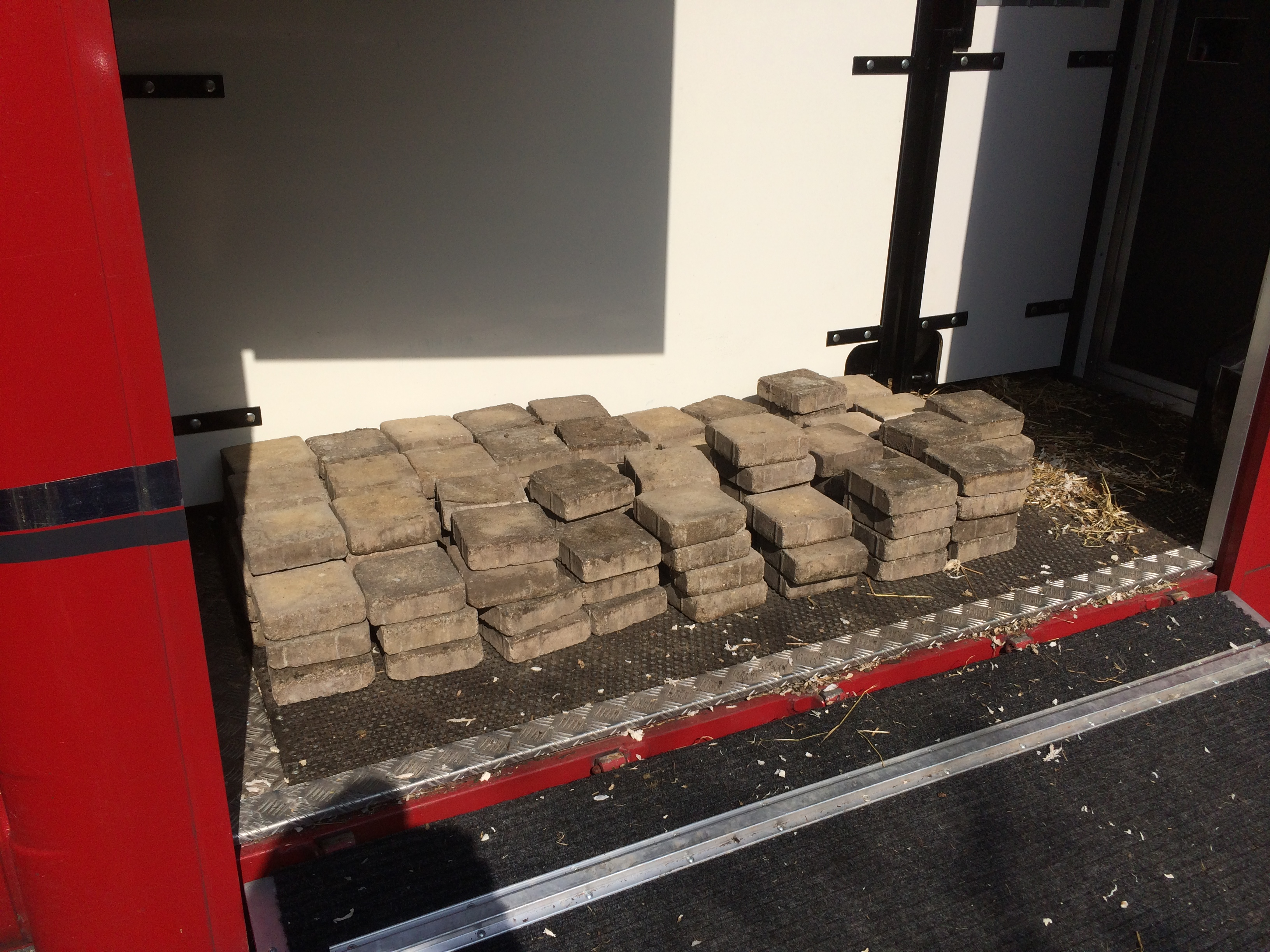 Bricks in horse lorry