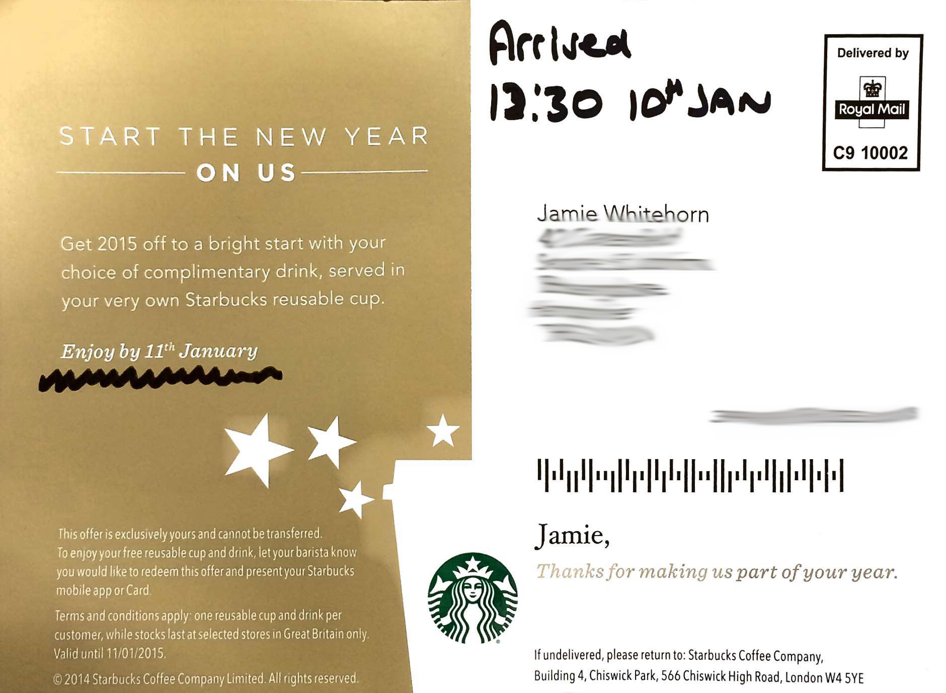 Starbucks offer