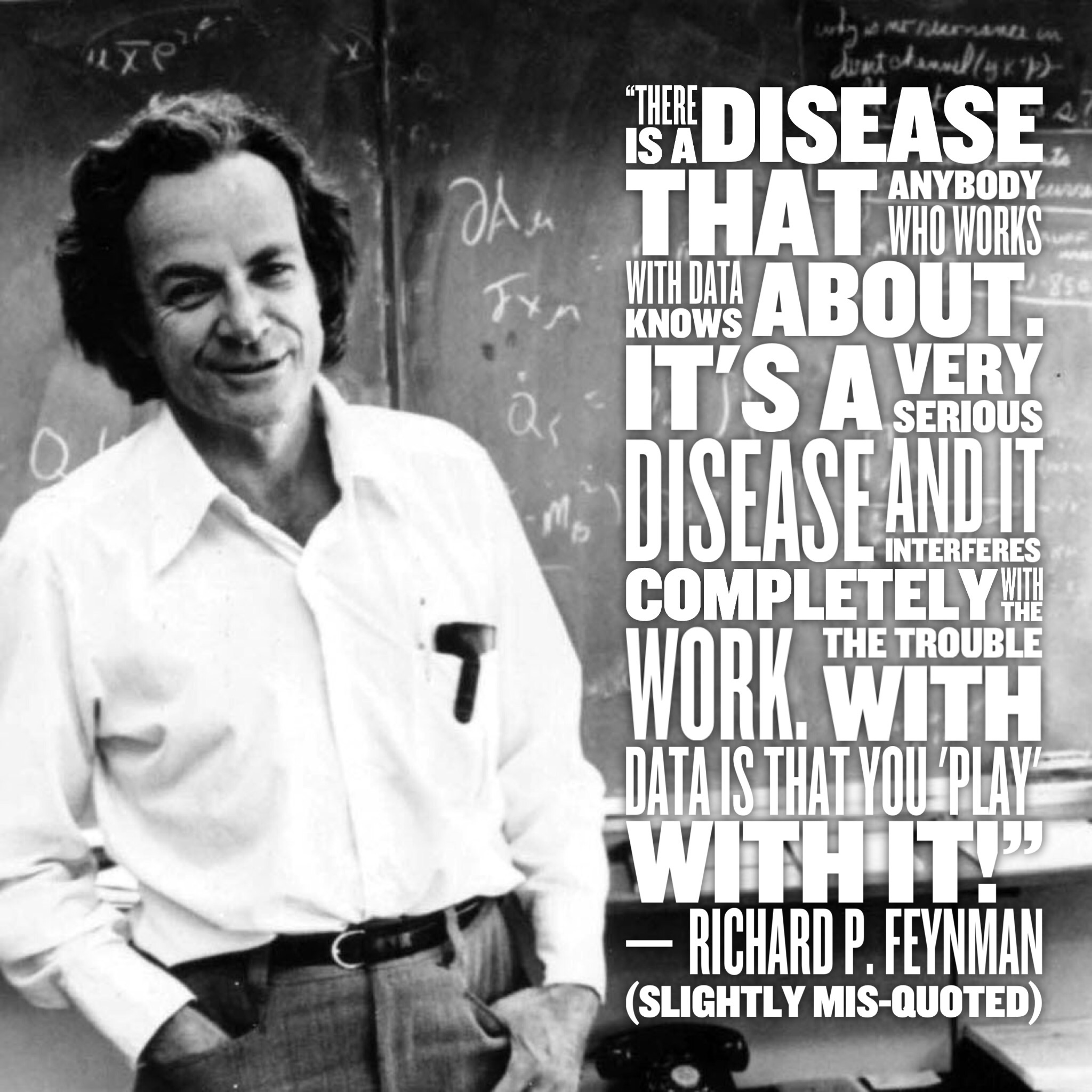 Picture of Richard Feynman with quote