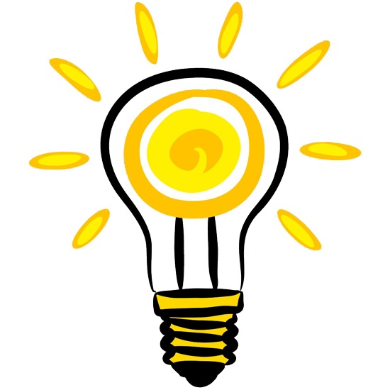 Vector picture of an idealised lightbulb