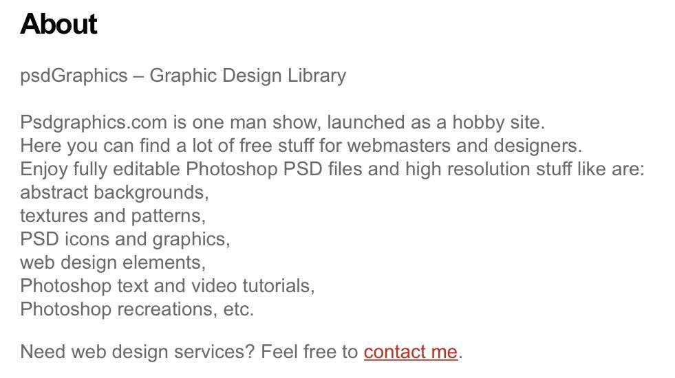 PSDGraphics About Details