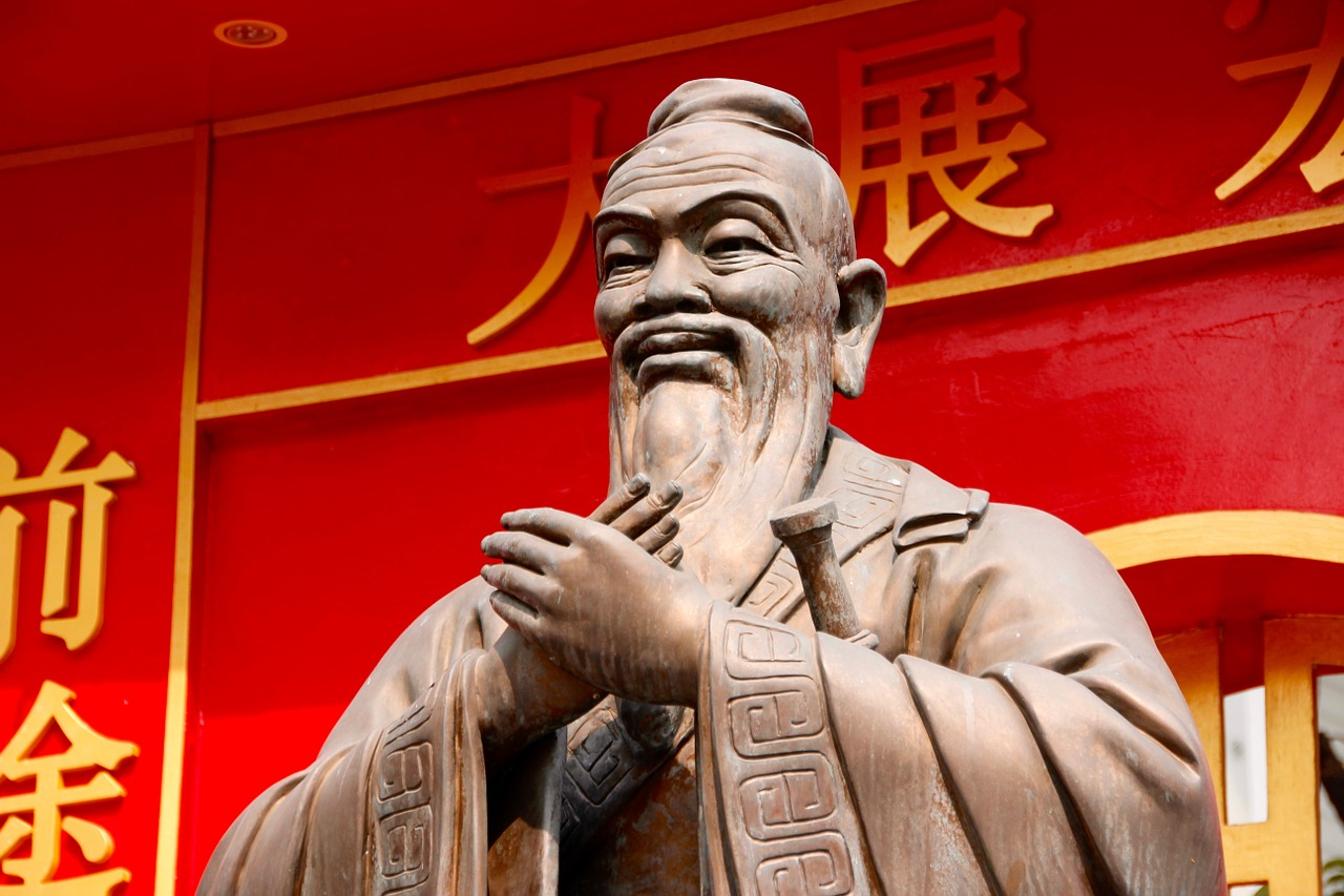 Picture of Confucius from Pixabay